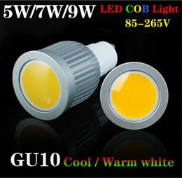Wholesale Mr16 Led Warranty - E27 GU10 MR16 COB LED Spot Light Bulbs Warm white Cool white 85-265V Quality Lights 3W 5W 7W CE ROSH 2 Years Warranty