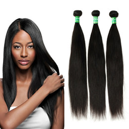 Wholesale Weaves Hair Piece Prices - 100% Virgin Hair Peruvian Straight Hair Weave 3 Bundles Remy Human Hair Extensions 10-28 Inches Natural Color Silky and Shiny Factory Price