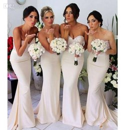 Wholesale Mermaid Bridesmaid Dresses For Wedding - 2015 Cheap Sexy Bridesmaid Dresses Sweetheart Crystal Sequins with Stain Floor Length Sleeveless for Wedding Party Bridesmaid Gowns HY380