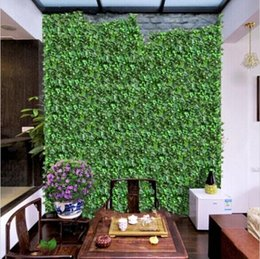 "Wholesale Rattan Decor - 98""(250 cm) New Artificial Silk Simulation Climbing Vines Flower Green Leaf Ivy Rattan for Home Wall Decor Bar Party Decoration"