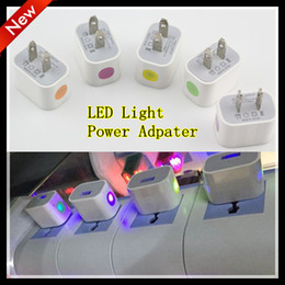 Wholesale Colorful Lighting Direct - US Wall charger Adapter colorful LED Light AC Home travel Charger Adapter For Iphone6 plus , 6, 5S,5, 4S, Samsung Galaxy S6 ,S5,S4, Note5,