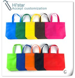 Wholesale Cheap Plain Cotton Fabric - 20pcs lot Customized Logo Sell stock 20pcs punch handle cheap non woven shopping bag