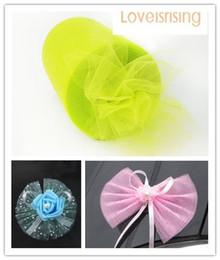 "Wholesale Apple Spool - New Arrivals-4 Rolls 6""x100y Apple Green Color Tulle Rolls Spool Tutu DIY Craft Wedding Banquet Fabric Wedding Car Decor"
