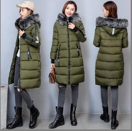 Wholesale Thick Black Female Models - Winter The New Korean version Slim Female In the long section Down jacket Winter clothes Large size fashion coat 6 models Free shipping