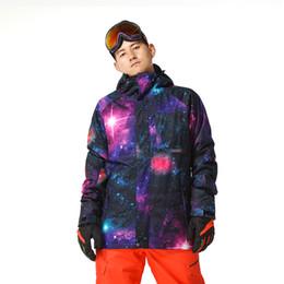 Wholesale Winter Snowboard Coat Men - Wholesale- Gsou Snow Men Waterproof Ski jacket blue color snowboard Wear Windproof winter coat sport Top Warm Up 1510-001