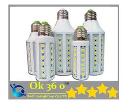 Wholesale E27 5w Bulb - Ultra bright SMD 5050 Led Corn light E27 E14 B22 85-265V 5W 7W 12W 15W 20W 30W 40W LED bulb 360 degree led Lighting Lamp 220V