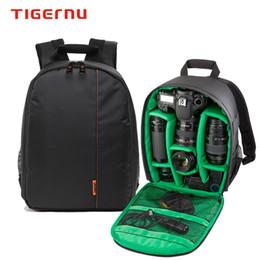 Wholesale Dslr Camera Bag Backpack - Dslr Camera Bag Authentic High Quality Digital Camera Bags Nylon Waterproof Shockproof Backpack Double Shoulder Bag For Canon Nikon