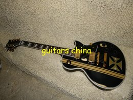 Wholesale Electric Guitar Iron Cross - NEW 2015 Black Metallica James Hetfield Iron Cross Aged Electric Guitar Musical Instruments Free Shipping