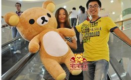 Wholesale Soft Toys Sizes - Rilakkuma plush stuffed fat doll big size 80cm adorable soft doll free shipping n0204