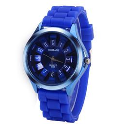 Relógio quartzo feminino on-line-WoMaGe relógio de luxo crisântemo em forma de relógios mulher homem relógio de pulso de quartzo dos homens relógio de silicone estudantes relógio do esporte