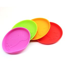 Wholesale Red Frisbees - 2016 New Free Shipping Rubber Frisbee Flying Disc Tooth Resistant Outdoor Small Dog Training Fetch Toys Interactive Type Pet Toys