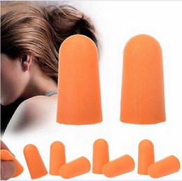 Wholesale Noise Ear Plugs Wholesale - 200pcs=100Pairs Brand New Foam Sponge Earplug Ear Plug Keeper Protector Travel Sleep Noise Reducer Free Shipping[HZTJ0005*100]