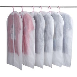 Wholesale Garment Bags Clear - Hot Sale Wedding Dress Gown Bag Garment Cover Travel Storage Dust Covers Bridal Accessories For Bride Clear Dust Bags Cheap Price