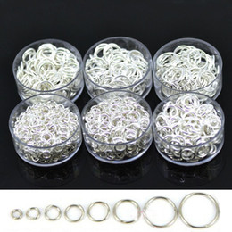 Wholesale Silver Jump Rings 8mm - wholesale 830PCS 8mm closed circle loop silver plated jump rings keychain wholesale lots jewelry making findings