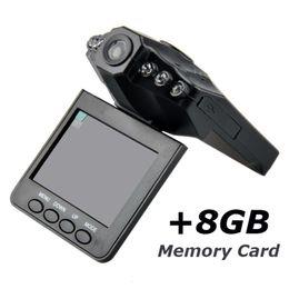 Wholesale H198 Hd Dvr - H198 Car DVR 2.5 inch Car DVR Vehicle Video Recorder Camera Camcorder HD DVR With 6 IR LED Night Version+Memory Card