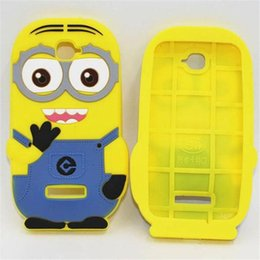 Wholesale Minion Silicone Galaxy S3 Cases - 3D Despicable Me 2 soft silicone case more minions for iphone 4 4S 5 5S 5C 6 PLUS Samsung galaxy S3 S4 S5 S6 mini note 3 2 ipod touch 4 5