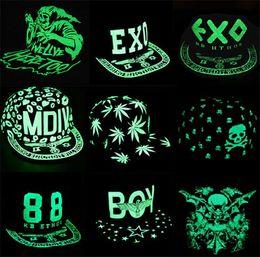 ab82f64c35a 100pcs NEW arrive best price luminous flat hat hip-hop style fluorescence cap  baseball cap Snapback Baseball Hats Caps for baby D258