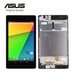 Wholesale Touch Screen Digitizer For Asus - Wholesale- For ASUS Google Nexus 7 2nd 2013 FHD ME571 ME571K ME571KL K008 K009 LCD Display Touch Screen Panel Digitizer Assembly with Frame