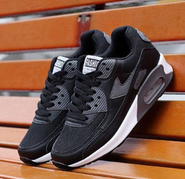 Wholesale American Canvas Shoes - New HYP PRM QS men's and women's running shoes Air 90s American flag black gray pink gray-white color Baobao color casual running shoes