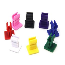 Wholesale E Cig Battery Holders - 20pcs ecig holder e cig car holder ego car holder silicone base vaporizer stander for ego twist x6 g5 battery holder