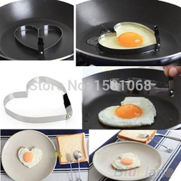 Wholesale Garlic Keepers - Cook Fried Egg Pancake Stainless Steel Heart Shaper Mould Mold Kitchen Tool Rings 1O5V