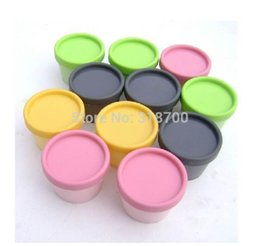 Wholesale Plastic Shipping Containers Wholesale - Free shipping - 24pcs lot 100g cylinder mask PP bottle, facial mask cream jars,containers LUSH split charging jars