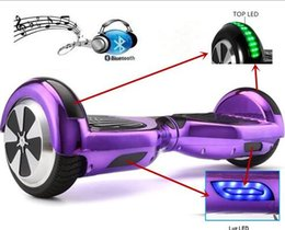 Wholesale Gold Chrome Wheels - (US STOCK) 2272UL Chrome hoverboard 6.5 inch Electric Skateboard steering-wheel Smart 2 wheel self Balance Standing scooter hover board