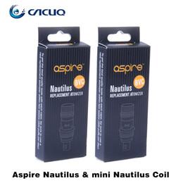 Wholesale Vaporizers For Wholesale - Authentic Aspire Nautilus Mini BVC Coils Head Bottom Vertical Coils for Atomizers Aspire Mini Nautilus Vaporizers ecigarette Coils