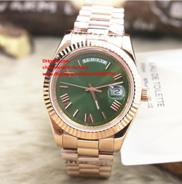 Wholesale Watch Roman Gold - Luxury High Quality Watch 18K Rose Gold Roman Dial 40mm Day Date President 228235 Asia 2813 Movement Mechanical Automatic Mens Watches