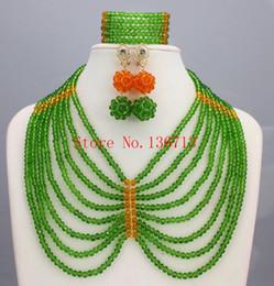 grüne korallenhalskette Rabatt Teal Green Kostenloser Versand Hochwertige Afrikanische Perlen Halskette Set Schöne Korallen Schmuck Set Für Hochzeit SD808-1