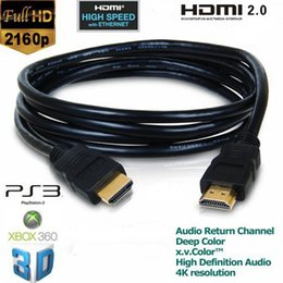 Wholesale Hdmi Cables For 3d - 3M OD 5.5MM 2160P HDMI 2.0 Cable V2.0 for 3D HDTV with Ethernet 24K Gold Plated 4K X 2K Way better than 1080P HDMI 1.4 Cable