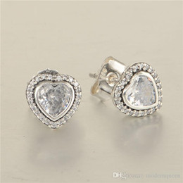 9ddd0f892 Hearts earrings S925 Sterling silver earrings stud fits pandora style  jewellery charms free shipping best quality discount pandora earring charms