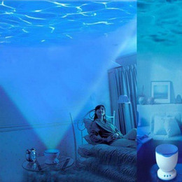 Wholesale Wave Ceiling - Night Sleep Light Speakers Romantic Dream Ocean Waves Style Projection Round Wall Ceiling Projector Speaker For PC Laptop Cell Phones DHL