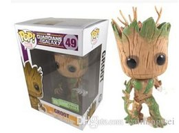 Wholesale Guardian Tree - Wholesale-Luminous Night Guardians of the Galaxy Groot Marvel FUNKO POP 11cm Wacky Wobbler Shake Bobble Head Tree Toys PVC Action Figure