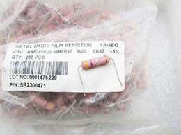 Absolutamente autêntico Taiwan Yageo resistores de filme de metal febre amplificador de áudio elemento febre 3W0.47R Europa de