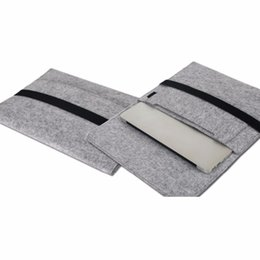 "Wholesale Type Briefcases - Wool Felt Inner Tablet Notebook Laptop Overgrown-type Sleeve Case Carrying Handle Bag for11 13 15"" Macbook Air Pro Retina Briefcase Cover"