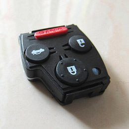 Wholesale Honda Keys Cut - Honda 3+1 remote control key shell (can cut the pad to be 2 or 3 button remote key shell)