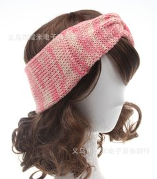 Womens Winter Warm Crochet Bowknot Headbands Knitting Wool Head Wrap  Beanies hair accessories headwear Ladies Turban Bandanas Hats WHA40 c47b87eb3974