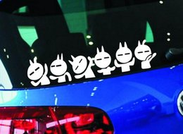 Wholesale Black Rabbit Tail - New style Reflective rabbit, funny rear window   the whole body car stickers decoration accessories Free shipping