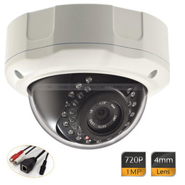 Wholesale Low Lux Dome Camera - Low Lux Indoor Outdoor Day Night Onvif HD IP 1MP Vandal-proof Dome Camera 720P