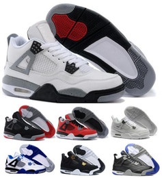 Wholesale Narrow Men Shoes - New Retro 4 Basketball Shoes Sneakers Men Women Grey Air Retros 4s IIII Replicas Brand Man Women Tennis Basket Hombre Femme Sport Shoe