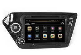 Wholesale Traditional Chinese Head - Android 4.4 Car DVD GPS Navigation for Kia K2 RIO 2011 2012 with Radio BT USB SD AUX WiFi Video Head Unit