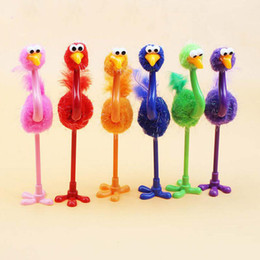 Wholesale Office Express - Cartoon Ball Point Pen Children Gift Colorful Ostrich Ball Pen Wholesale Creative Toy Pen School Stationery Express