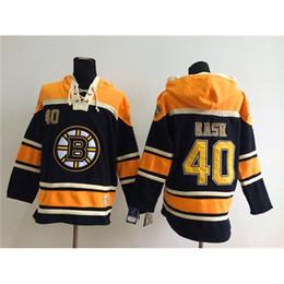 Wholesale Cheap Team Jackets - Bruins #40 Tuukka Rask Black Hockey Hoodies Hot Sale Top Selling Pullover Hooded Sweatshirt All Teams Outdoor Uniform Cheap Hockey Jacket