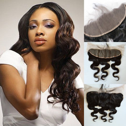 Wholesale Virgin Cambodian Hair 5a - 13x4 inch Natural Brazilian Indian Peruvian Cambodian Body wave Virgin Hair free part Lace Frontal Closure 100%Human Hair 5A Grade