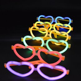 Wholesale Neon Stick Luminous - Neon Luminous Glow Sticks Oval Skull Heart Eye Glasses Headband Birthday Party Supplies Dress Decoration