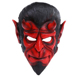 Wholesale Film Animations - Good Quality Hellboy Anime Mask Full Face Resin Game Animation Cosplay Film Mask Halloween Party Women Bauta Mask Party Supplies SD315
