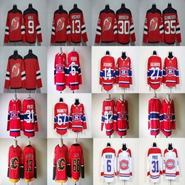 Wholesale Red Halls - 2017-2018 Season 13 Nico Hischier 92 Jonathan Drouin 68 Jaromir Jagr 9 Taylor Hall 31 Carey Price Hockey Jerseys Cheap