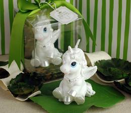 Wholesale Smoke Supplies Wholesale - 10Pcs Lot Small pegasus unicorn White Horse candle smoke free Birthday Gifts Wedding Supplies 2015 Wedding Gift Hot Sale