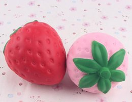Wholesale Toys Sizes - Squishy 11.5cm Strawberry Squishy Jumbo Simulation Fruit Kawaii Artificial Slow Rising Squishies Queeze Toys Bag Phone Charm Big Size